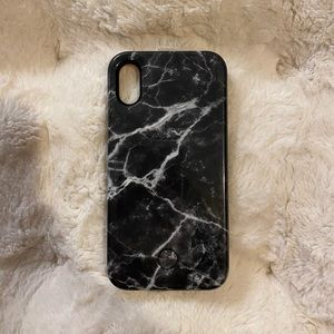 Black Marble LuMee iPhone X Case